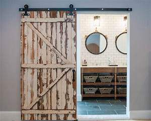 5 things every fixer upper inspired farmhouse bathroom for What kind of paint to use on kitchen cabinets for industrial chic wall art