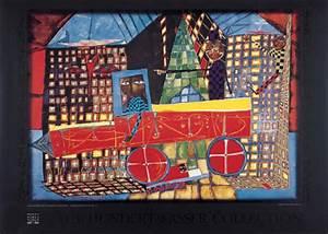 Bilder Mit Häusern : friedensreich hundertwasser tr umender lastwagenfahrer mit seinen h usern kunstdruck poster ~ Sanjose-hotels-ca.com Haus und Dekorationen