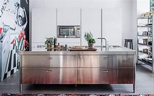 Edelstahl kuchen mobel for Edelstahl küchen