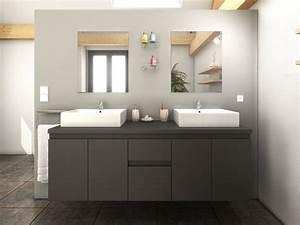 meuble salle de bain gris fonce With meuble salle de bain personnalisé