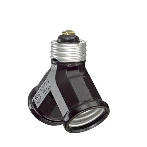 light socket adapter leviton 660 watt light socket adapter brown 128