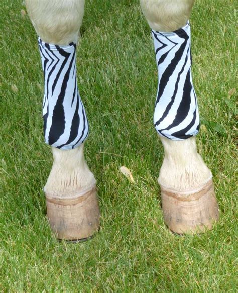 leg wraps horse covers boot polo fast neoprene sport zebra velcro print perfect