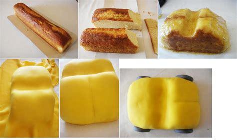 gateau anniversaire oui oui en pate a sucre et barre bretonne c est tres facile a faire