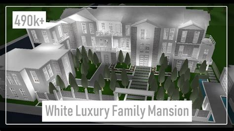 roblox white luxury family mansion  biggest house