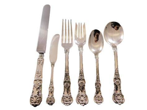 silver tiffany sterling flatware king english pc service