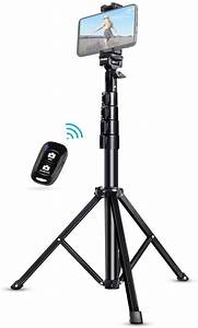 """Selfie Stick Tripod, UBeesize 51"""" Extendable Tripod Stand with Bluetooth Remote for iPhone ..."""
