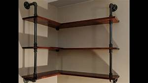Wood, And, Iron, Shelves