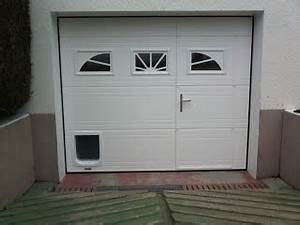 porte de garage sectionnelle avec installer chatiere porte With porte de garage coulissante avec installer chatière porte pvc