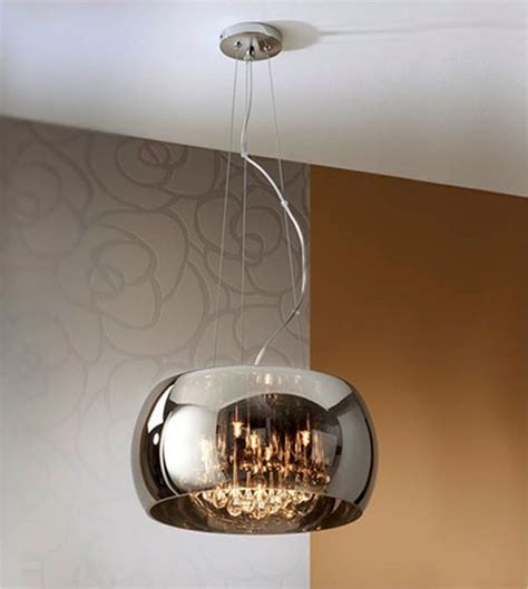 glass shade droplet pendant