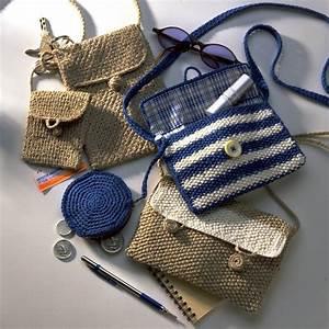 Pochette Pour Sac : trois pochettes en crochet et tricot marie claire ~ Teatrodelosmanantiales.com Idées de Décoration