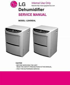 Lg Ld450eal Dehumidifier Original Service  Repair And