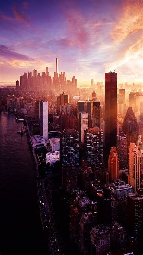 City Skyscrapers Landscape #iPhone #5s #Wallpaper iPhone