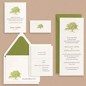 oak tree wedding invitations invitation crush With paper moss wedding invitations