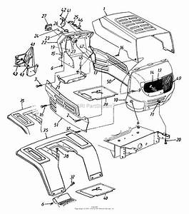 Mtd 13am673g022  1999  Parts Diagram For Hood Style 3