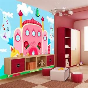 Chambre D Enfant : papier peint pour chambre d 39 enfant ch teau princesse ~ Melissatoandfro.com Idées de Décoration