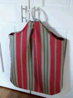 tutorial sew  hang  laundry hamper sewing
