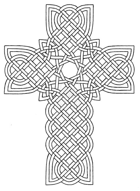 Coloring Pages Crosses Designs | Celtic Cross Design 1 by