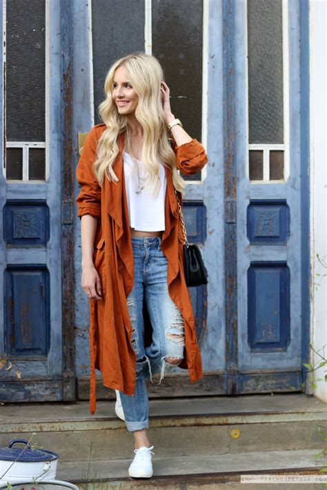 OUTFIT Burnt Orange Loose Fit Trenchcoat u0026 Make your own Fashion Rules! | Feel Wunderbar