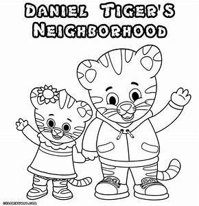 free tiger coloring pages - free printable daniel tiger coloring pages coloring home