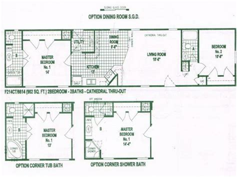 single wide mobile home floor plans  single wide mobile homes single home plans