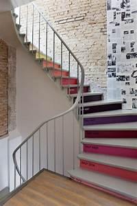Contre Marche Deco : nos plus belles inspirations pour un escalier tr s d co home sweet home d co maison ~ Dallasstarsshop.com Idées de Décoration