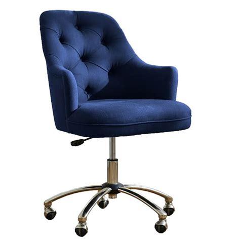 navy blue desk chair twill tufted desk chair pbteen