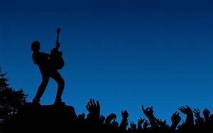 Rock Concert Silhouette Wallpaper | WallpaperLepi