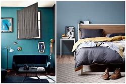 High quality images for chambre bleu canard et jaune moutarde 9202.ml