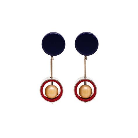 Серьги Стрекозы из красного золота 14010189 | Детские серьги..