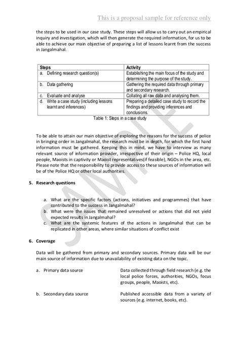 proposal writing sample