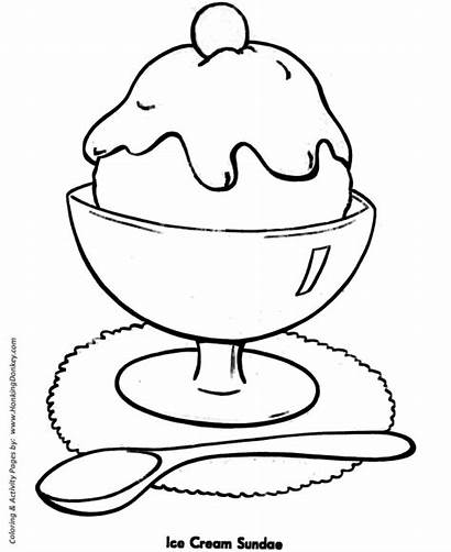 Coloring Pages Easy Shapes Ice Cream Sundae
