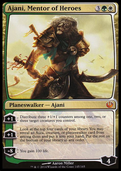 ajani mentor of heroes deck ideas proxies for deck quot mono g friends quot deckstats net