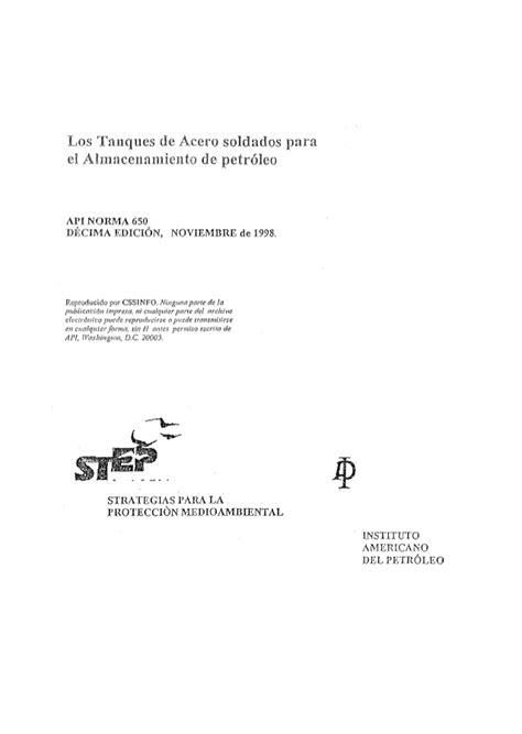 Api 650 [español]
