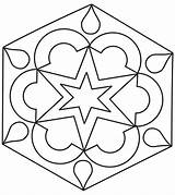 Rangoli Coloring Pages sketch template