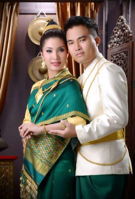 traditional lao bride  groom attire traditional lao