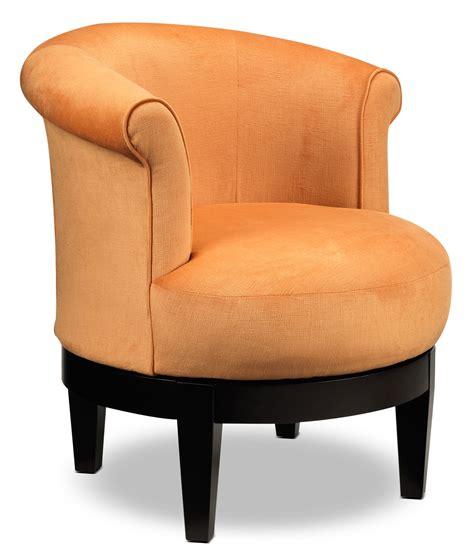 attica swivel accent chair orange s