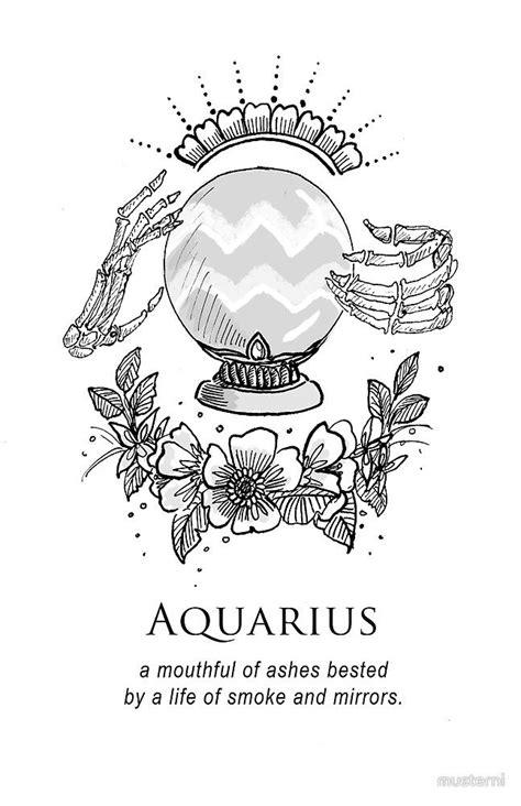 Aquarius - Shitty Horoscopes Book VII: Magick by musterni | Tattoo Designs | Pinterest