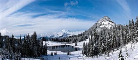 beautiful snow scenery  washington