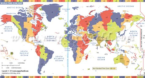 List Of Time Zones Of All Countries