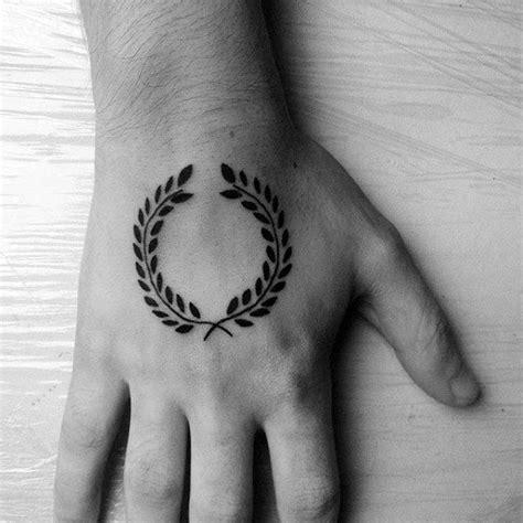laurel wreath tattoo designs  men branch ink ideas