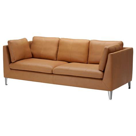 canapé faux cuir stockholm three seat sofa seglora ikea