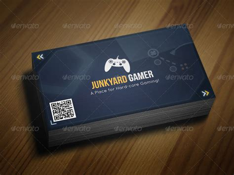 gaming themed business card  taeef graphicriver