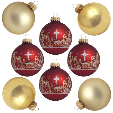 christmas by krebs glass christmas ornaments 8 ct gold