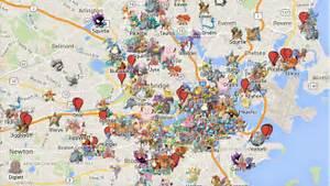 all the rare pokemon in boston are located on google maps