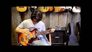 1968 Silvertone Hollow Body Electric Guitar  U0026quot Fixed Up U0026quot