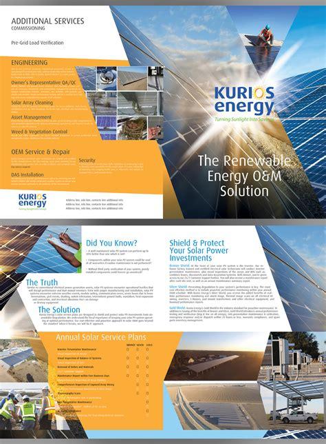 professional elegant solar energy brochure design
