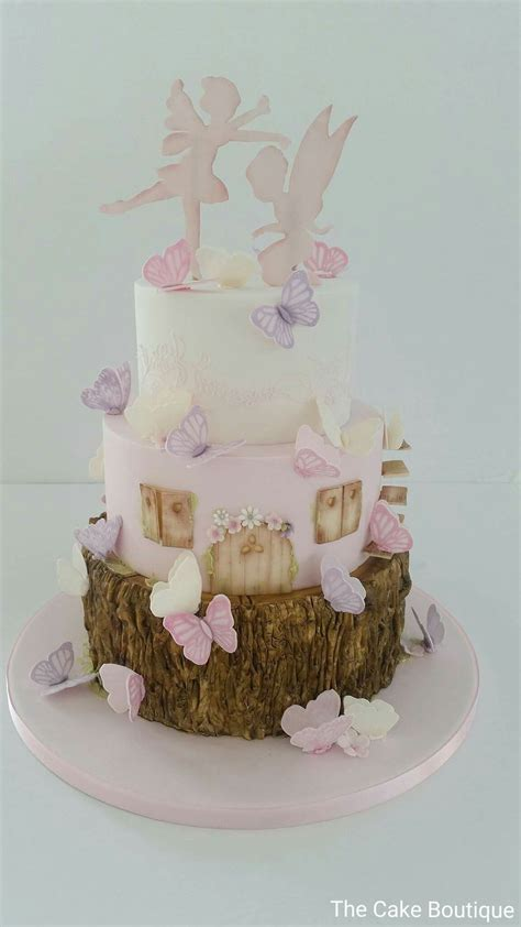 fairies cake butterfly theme christening baby shower