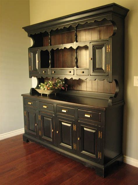 painted kitchen hutches european paint finishes rustic black farmhouse hutch