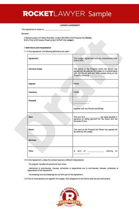 lodger agreement template excluded tenancy agreement