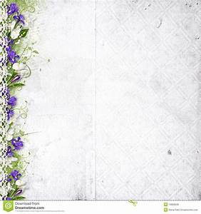 White Background With Purple Spring Flowers Royalty Free ...